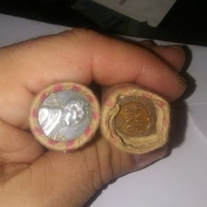 Other - 2 Rolls of Wheat pennies & Indian Head Pennies